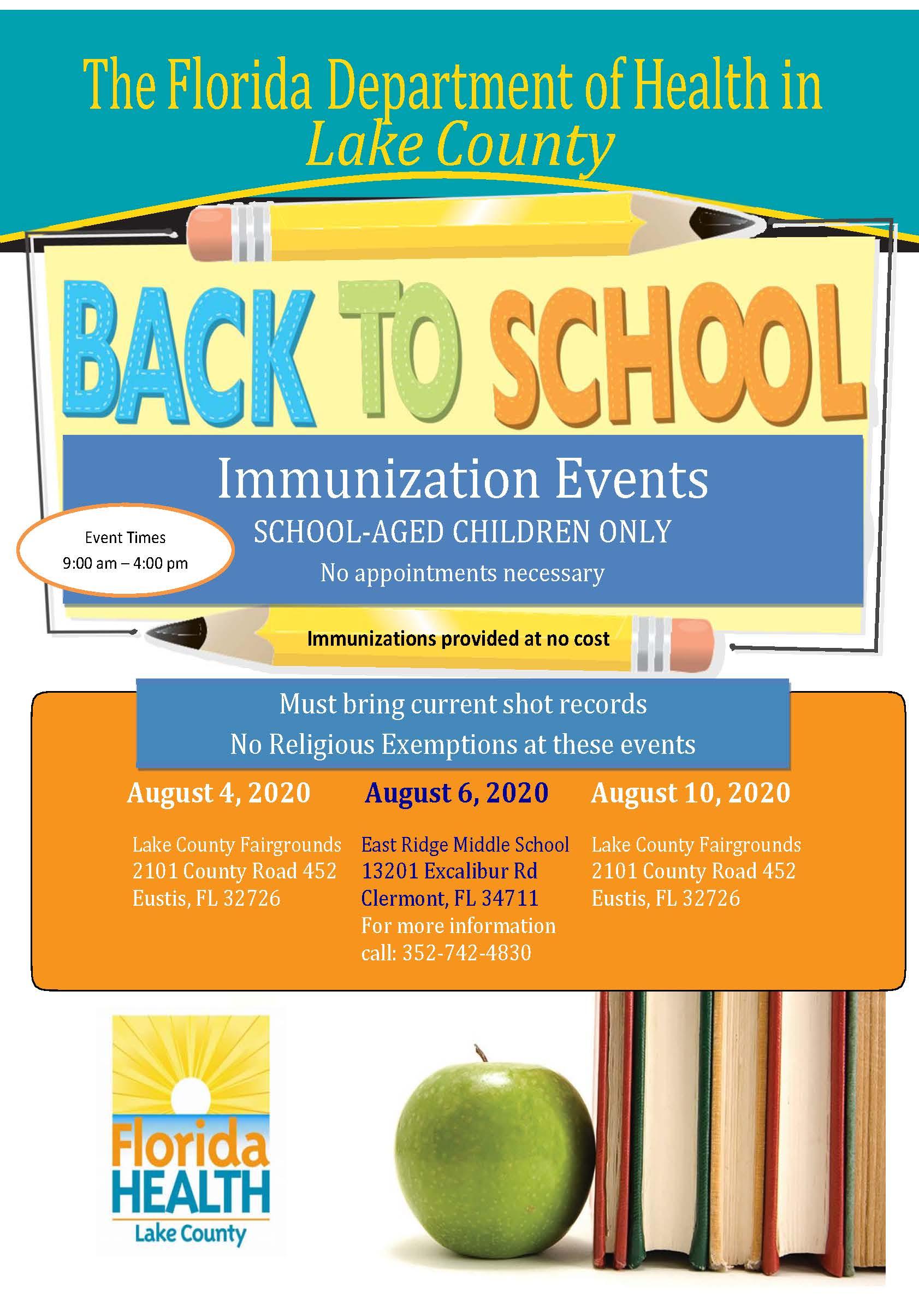 BACK TO SCHOOL IMMUNIZATION EVENT